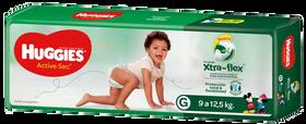 PAÑAL HUGGIES ACTIVE SEC Xtra Flex G
