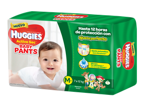 PAÑAL HUGGIES ACTIVE SEC BABY PANTS M