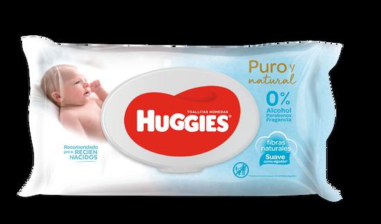 TOALLITAS HUMEDAS HUGGIES PURO Y NATURAL