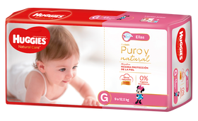 PAÑAL HUGGIES NATURAL CARE ELLAS G
