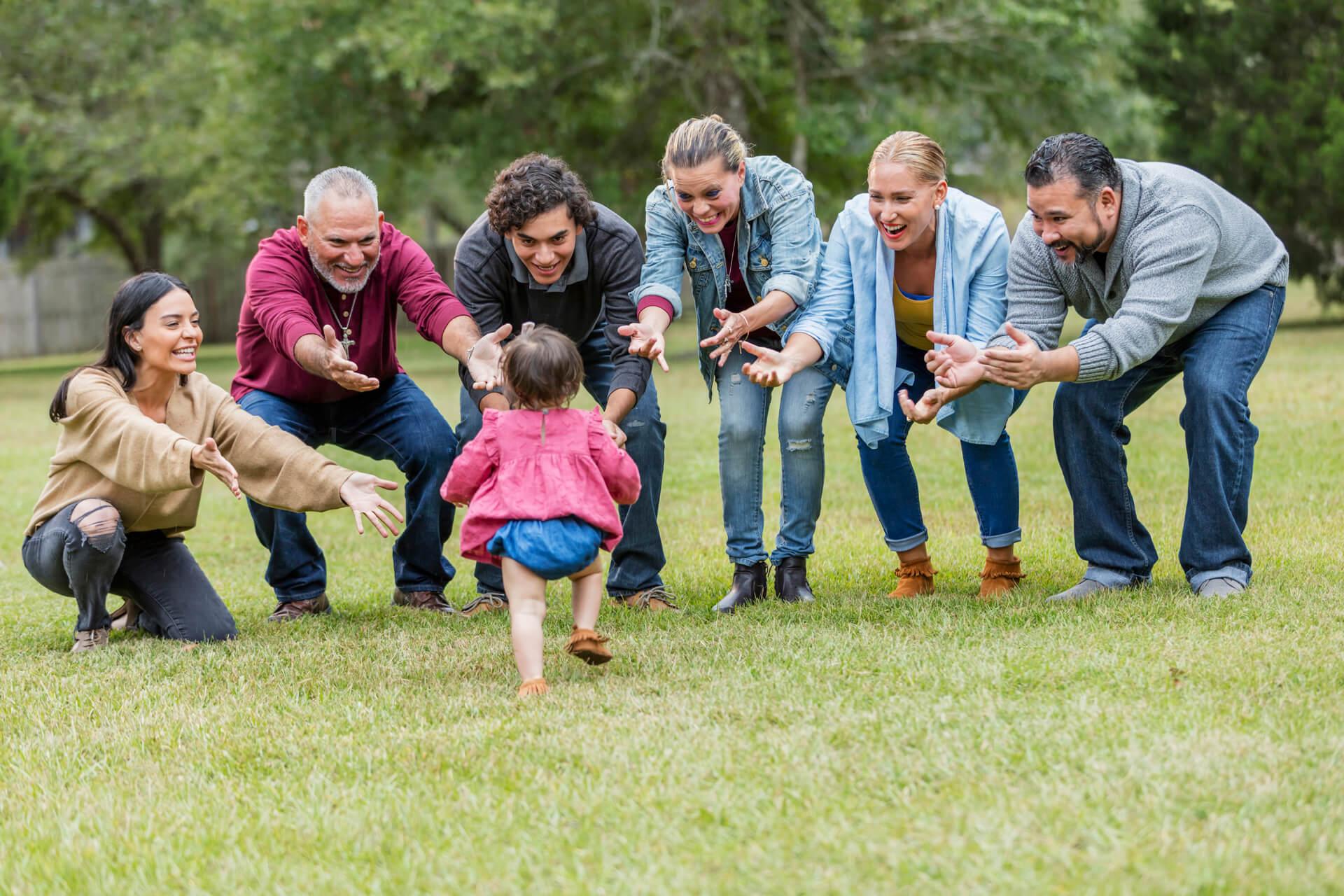 Dejar a tu bebé con los tios